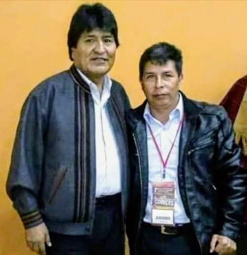 EVO MORALES ENVIA SALUDO DE TRIUNFO A PEDRO CASTILLO