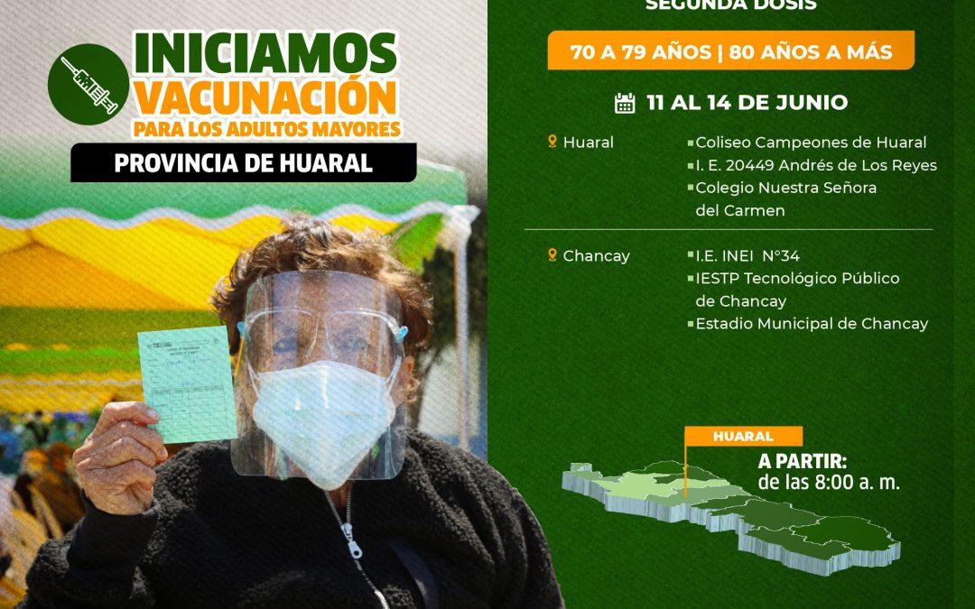 GORE DE LIMA REANUDA JORNADA DE VACUNACION EN DISTRITO DE HUARAL